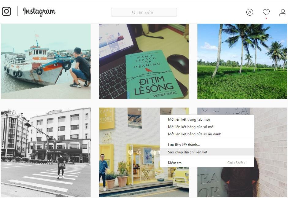 Thủ thuật download hình Instagram về máy tính